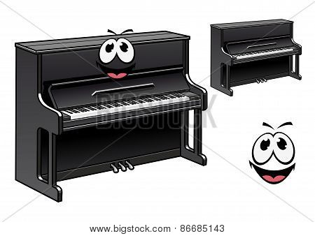 Cute black piano cartoon character