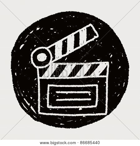 Clapboard Doodle Drawing