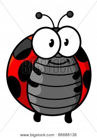Red spotted ladybug cartoon character