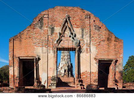 Ratburana Temple In Ayutthaya, Thailand.