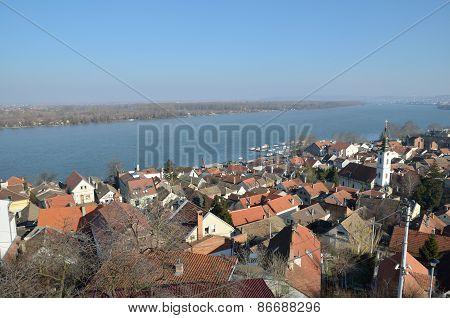 View Of Zemun And River Danube, Belgrade.