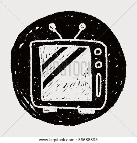 Television Doodle Drawing