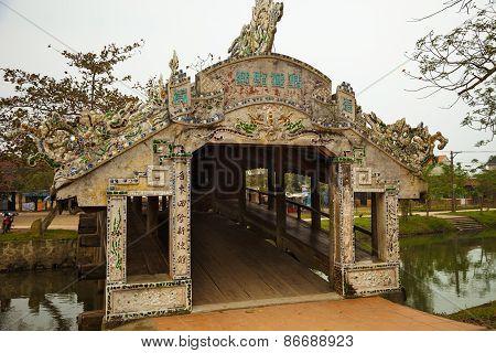 Thanh Toan Tile Roofed Bridge, Hue, Vietnam
