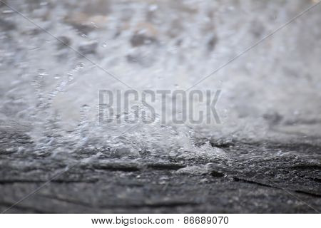Water Spray On Stones