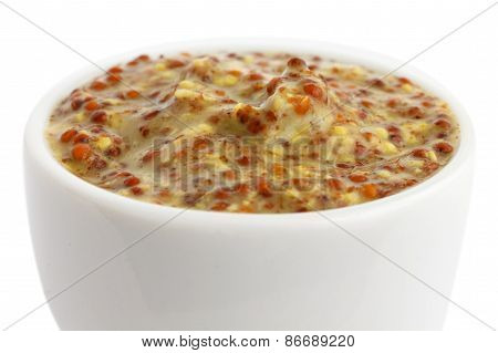 Small pot of mustard.