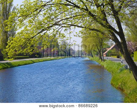 landscape with beautiful canal