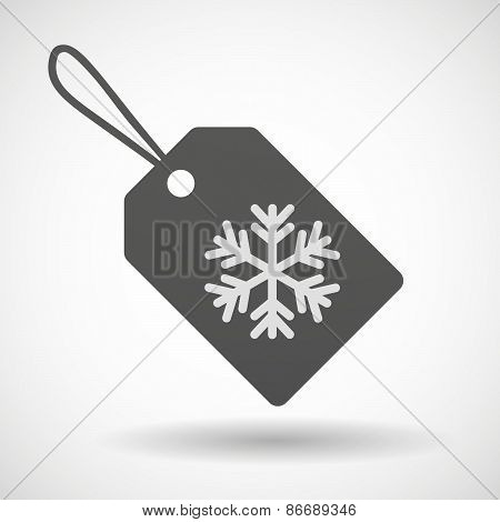 Shopping Label Icon With A Snow Flake