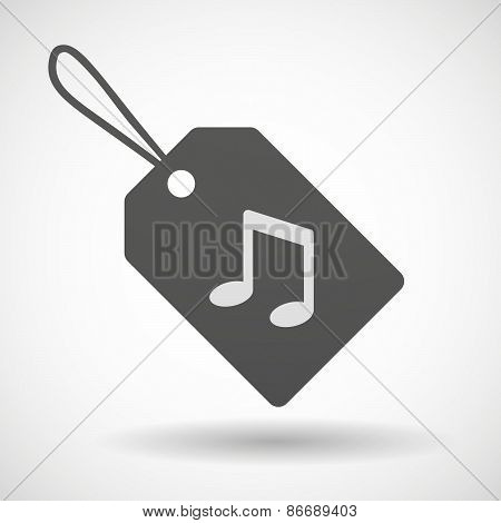Shopping Label Icon With A Music Note
