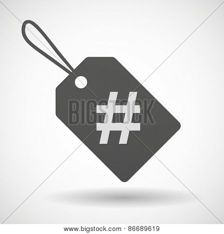 Shopping Label Icon With A Hash Tag