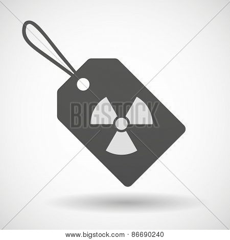 Shopping Label Icon With A Radio Activity Sign