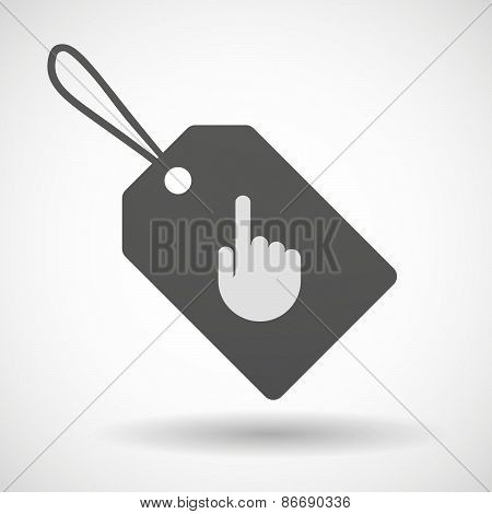 Shopping Label Icon With A Pointing Hand