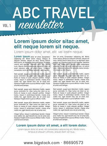 Travel Newsletter Page Layout