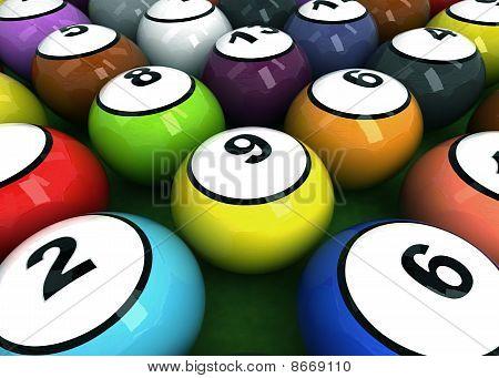 Shiny Billiard Balls