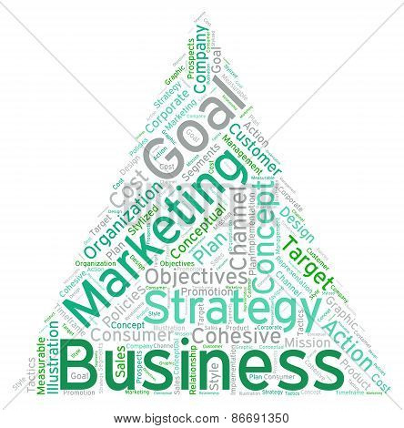 Pyramid Shaped Business Word Cloud