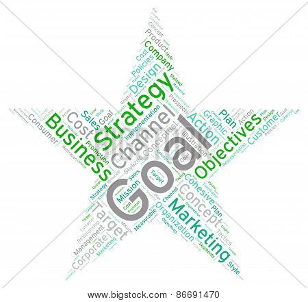 Business Star Shaped Word Cloud