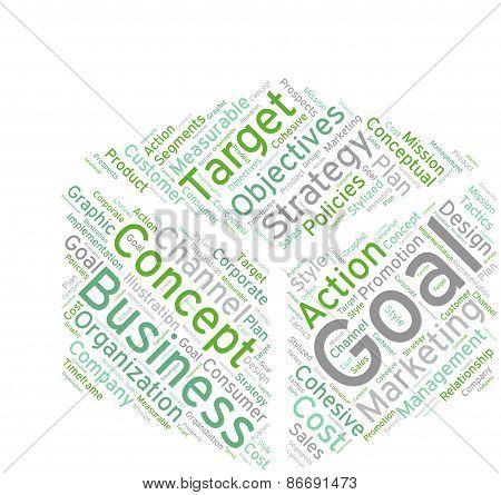 Box Shaped Business Word Cloud