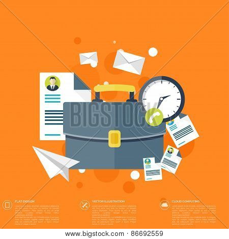 Flat background with papers.Temwork concept. Global communication and working expierence. Business,