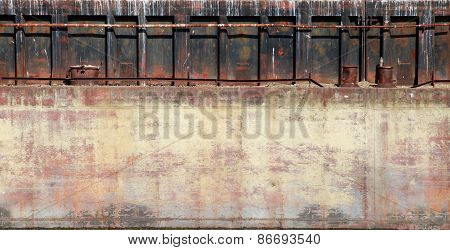 Detailed Closeup Old Rusted Barge Hull Photo Texture