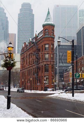 Flatiron Toronto In The  Winter