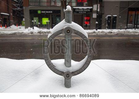 Toronto Bike Lock And Snow