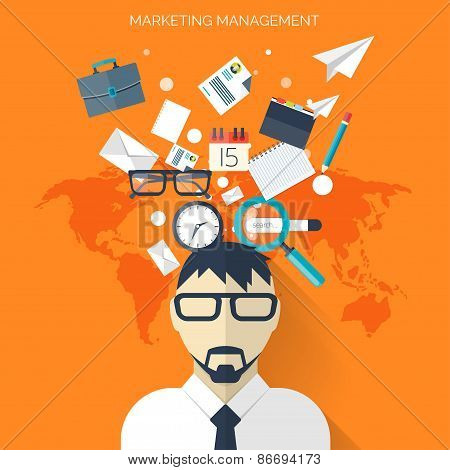Flat business background with papers.Temwork concept. Global communication and working expierence. B