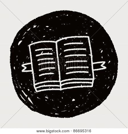 Doodle Open Book