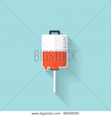 Intravenous therapy system icon.Medical dropper. Health care.