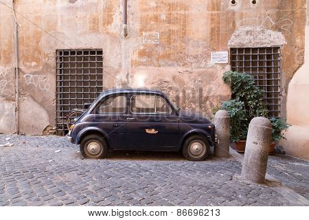 Small Old Classic Car