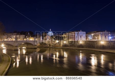 Part Of The Rome Skyline Near Vatican City