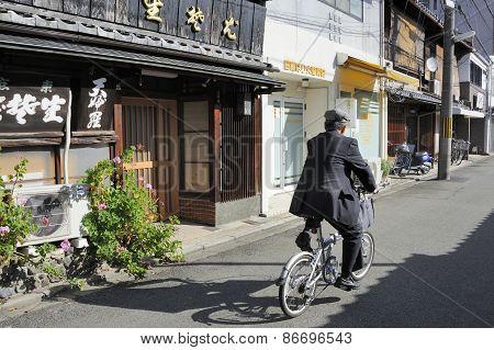 Street With Biker