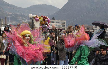 The lotus girls in carnival.