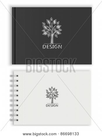Sketchbook white and black. Vector