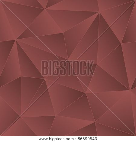Low Poly Marsala Color Seamless Vector Background.