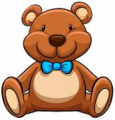 pic of teddy  - Close up brown teddy bear - JPG