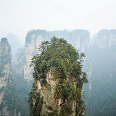 pic of breathtaking  - Top of rock column  - JPG
