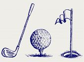 picture of dimples  - Golf icon set - JPG