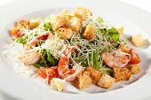 image of caesar salad  - Caesar Salad with Seafood - JPG