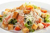 pic of caesar salad  - Caesar Salad with Salmon - JPG