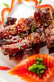 foto of baby back ribs  - Hot Meat Dishes  - JPG