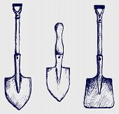 foto of shovel  - Different types of shovels - JPG