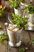 foto of mints  - Refreshing Cold Mint Julep for the Derby
