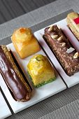 picture of french pastry  - Various French pastries in a tea room - JPG