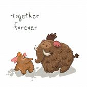 image of mammoth  - Together forever - JPG