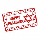 pic of passover  - illustration of a stamp for Happy Passover - JPG
