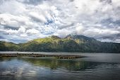 picture of gunung  - lake Batur in a volcano crater Indonesia the island of Bali - JPG