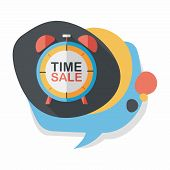 stock photo of year end sale  - Shopping Limit Sale Flat Icon With Long Shadow - JPG