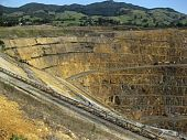 image of martha  - Martha mine open gold and silver mine with hills in background - JPG