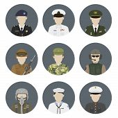 stock photo of soldier  - Military avatars - JPG
