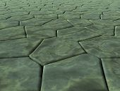 picture of paving stone  - plane covered with paving stones of marble of different shapes - JPG