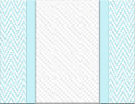 picture of chevron  - Teal and White Chevron Zigzag Frame with Ribbon Background with center for copy - JPG